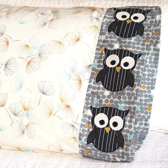 Moda - Pillowcase 67 Owl Appliqué