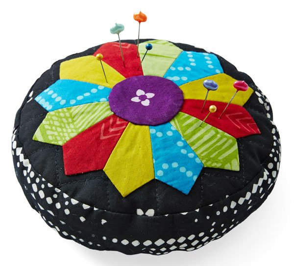Top Pincushion Pattern: Blooming Batik Pincushion