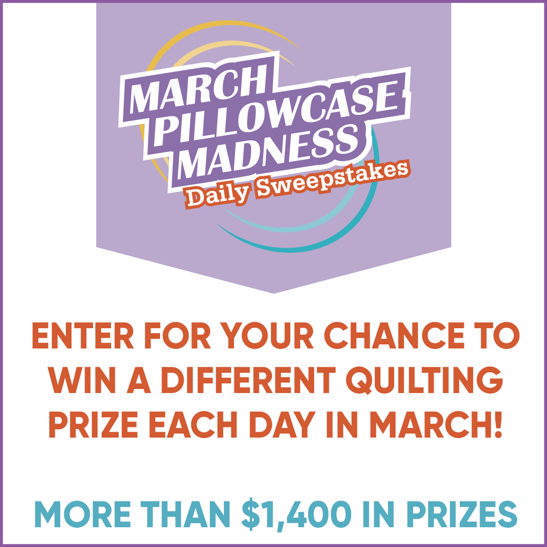 March Pillowcase Madness Daily Sweepstakes