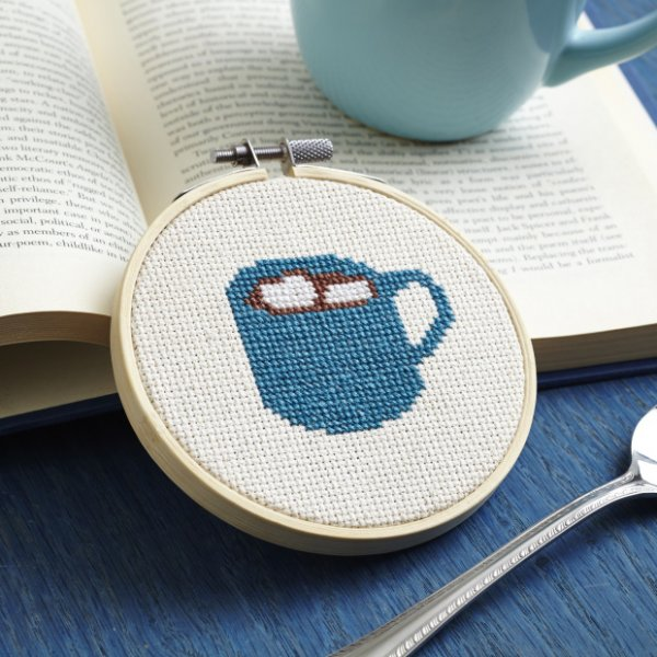 Hot Chocolate Cross-Stitch Pattern