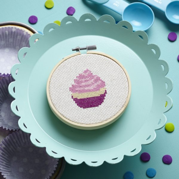 Cupcake Cross-Stitch Pattern