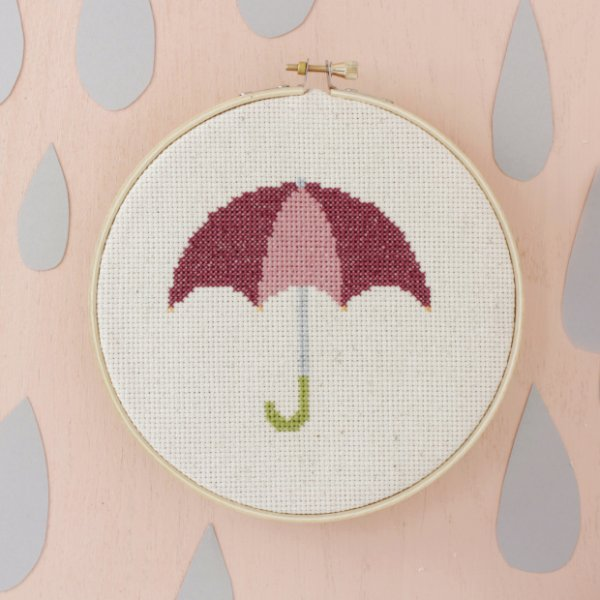 Umbrella Cross-Stitch Pattern