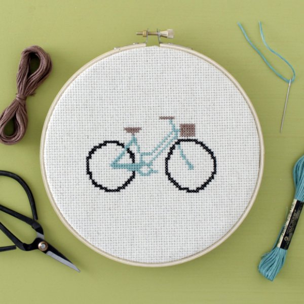 Bicycle Cross-Stitch Pattern