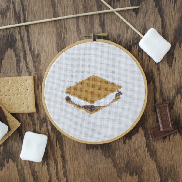 S'mores Cross-Stitch Pattern