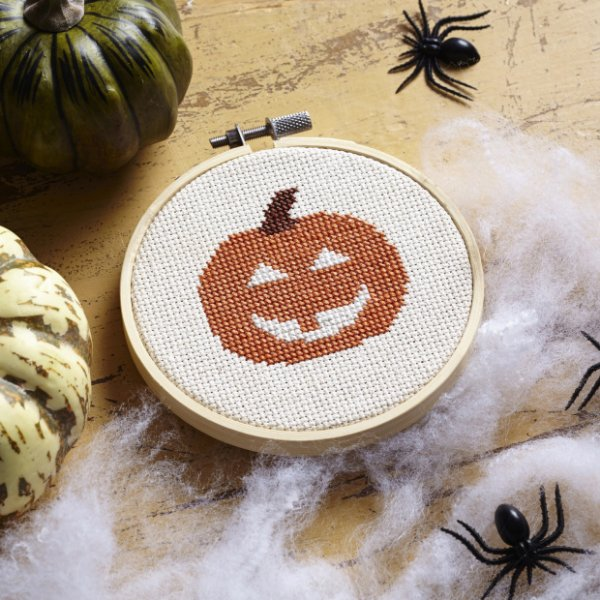 Pumpkin Cross-Stitch Pattern
