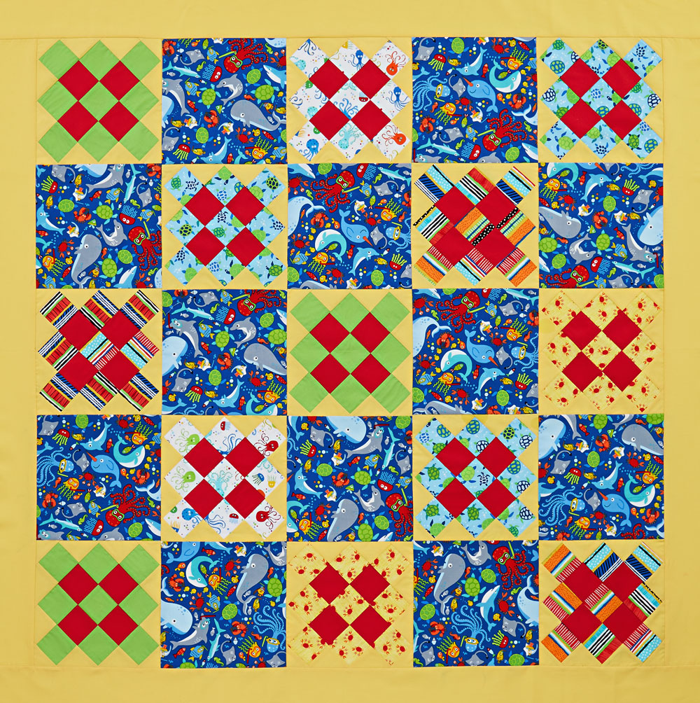 Seaside Squares Baby Quilt