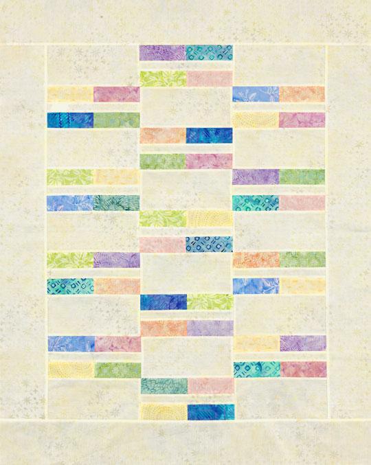 Pastel Strip Quilt