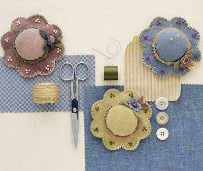 Spring Hats Pincushion