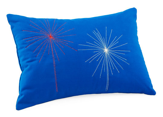 Metallic Fireworks Pillow
