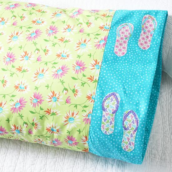 Moda Fabrics - Pillowcase 83: Flip Flop Appliqué