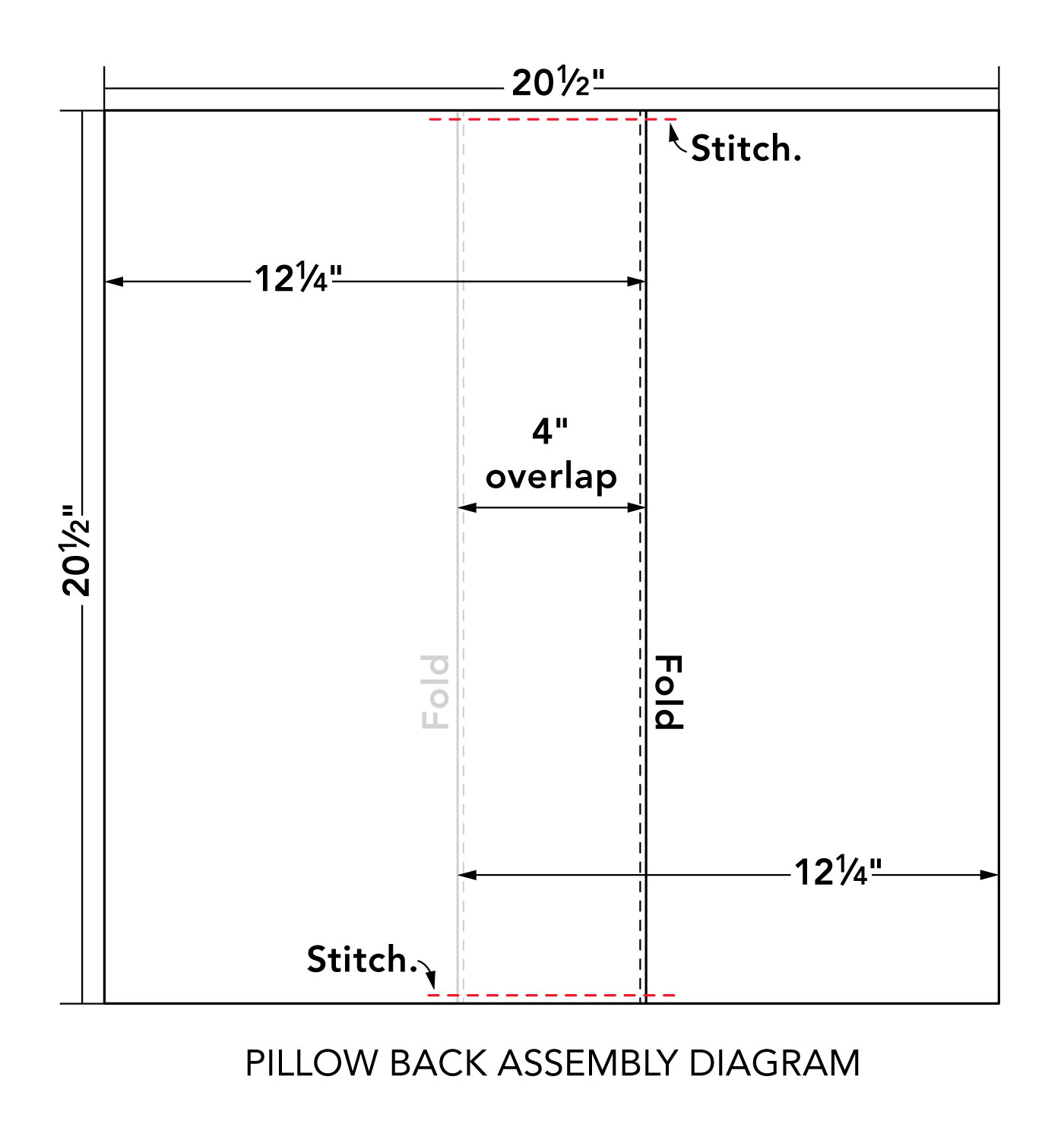 pilow back assembly diagram
