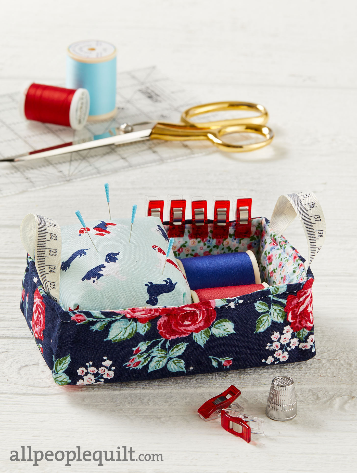 pincushion caddy