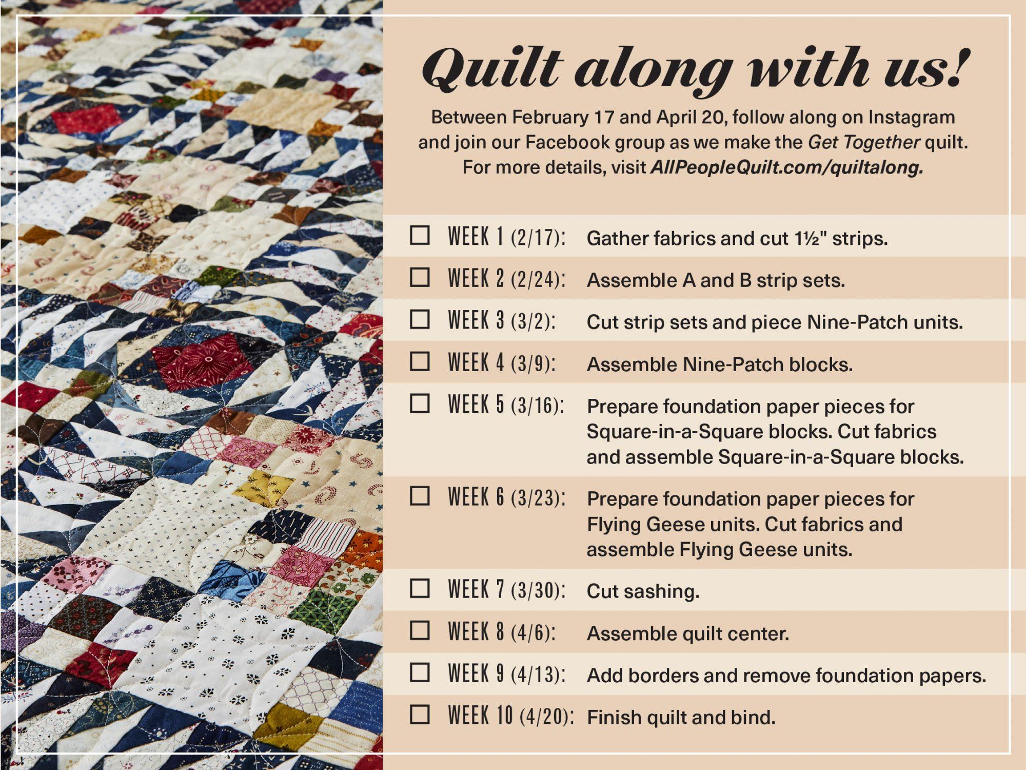 Quilt-Along Schedule