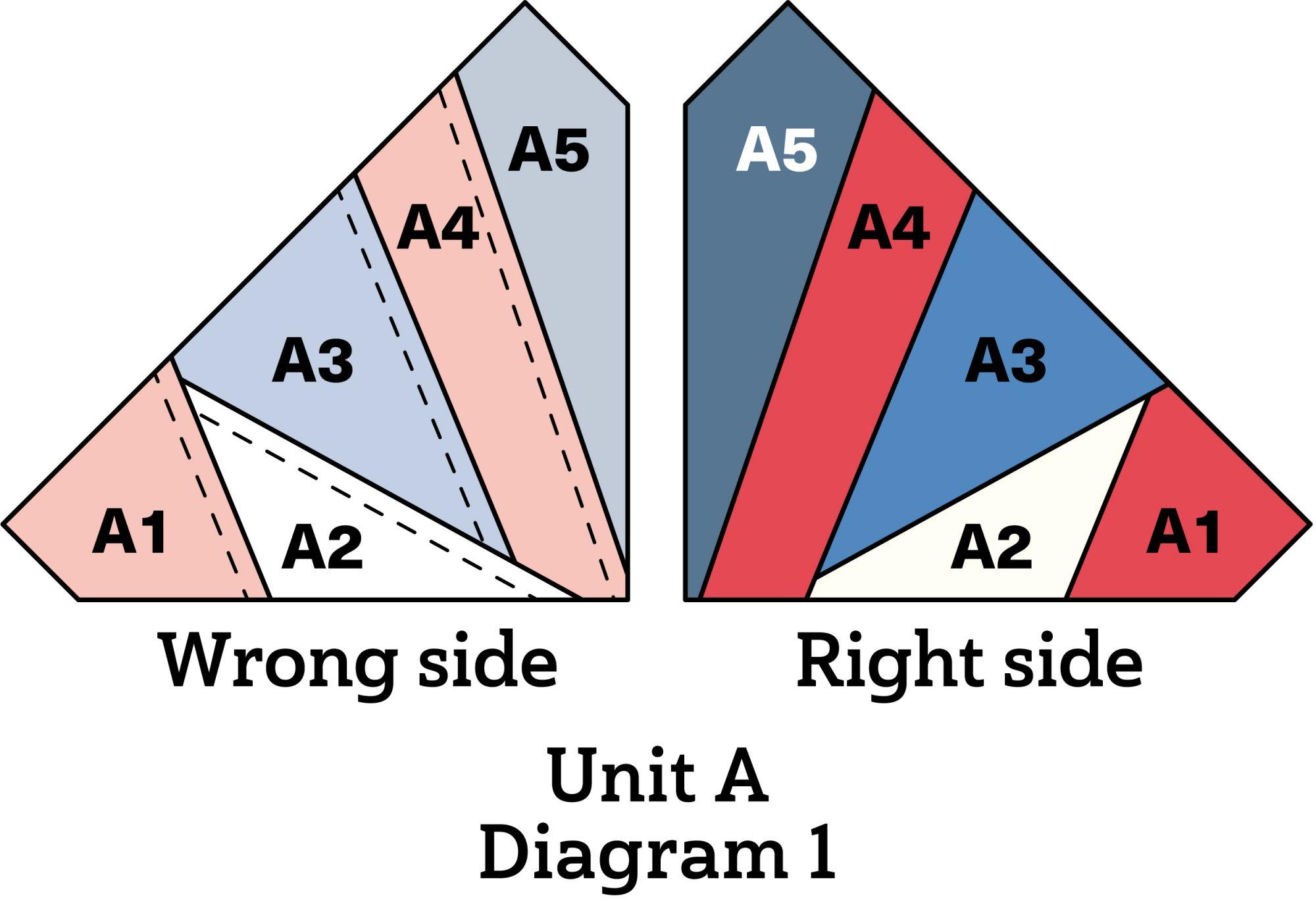 Patriotic Pinwheel Pillow diagram 1