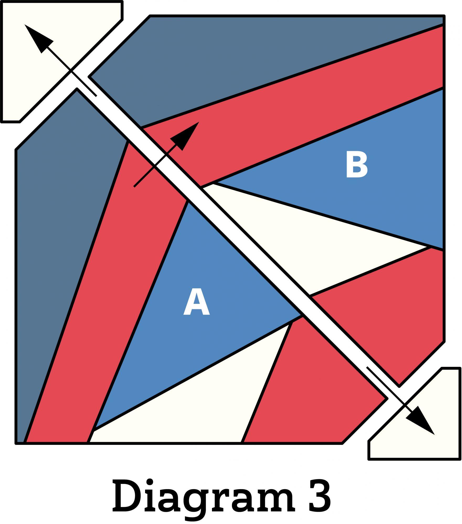 Patriotic Pinwheel Pillow diagram 3