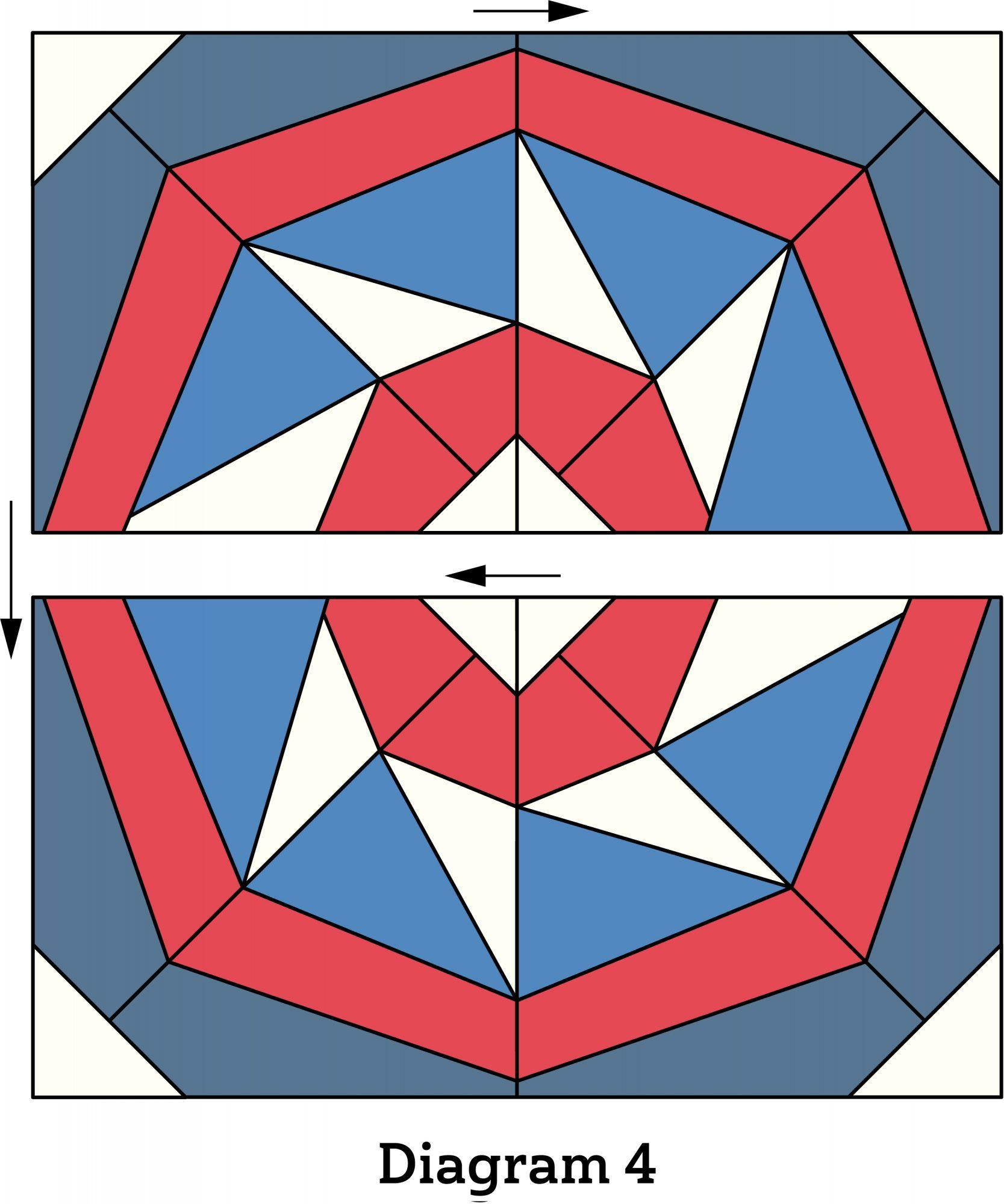 Patriotic Pinwheel Pillow diagram 4