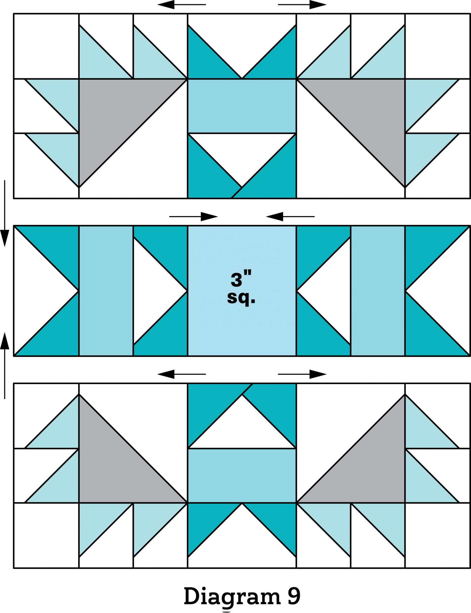 Bright Spark Table Runner diagram 9