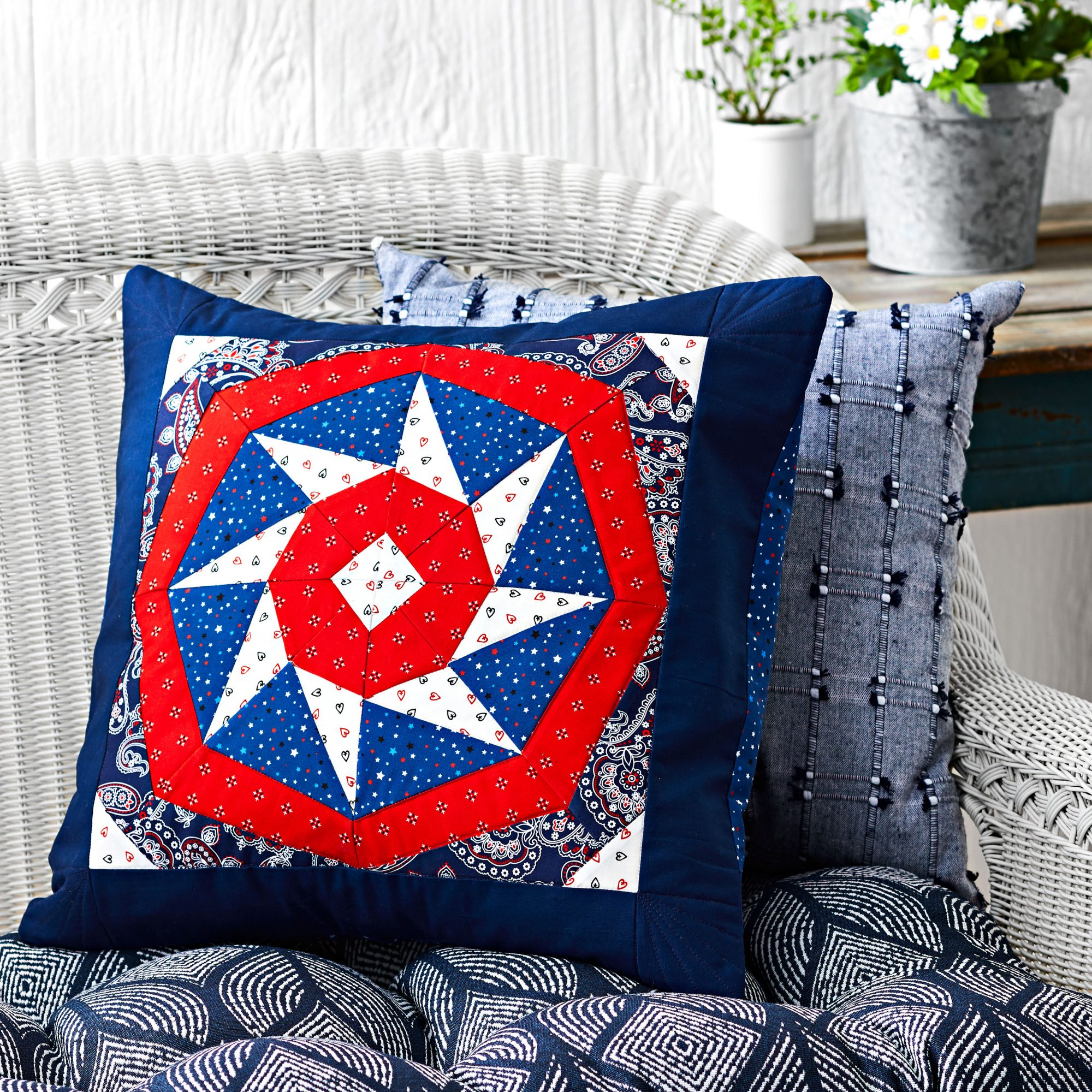 Patriotic Pinwheel Pillow