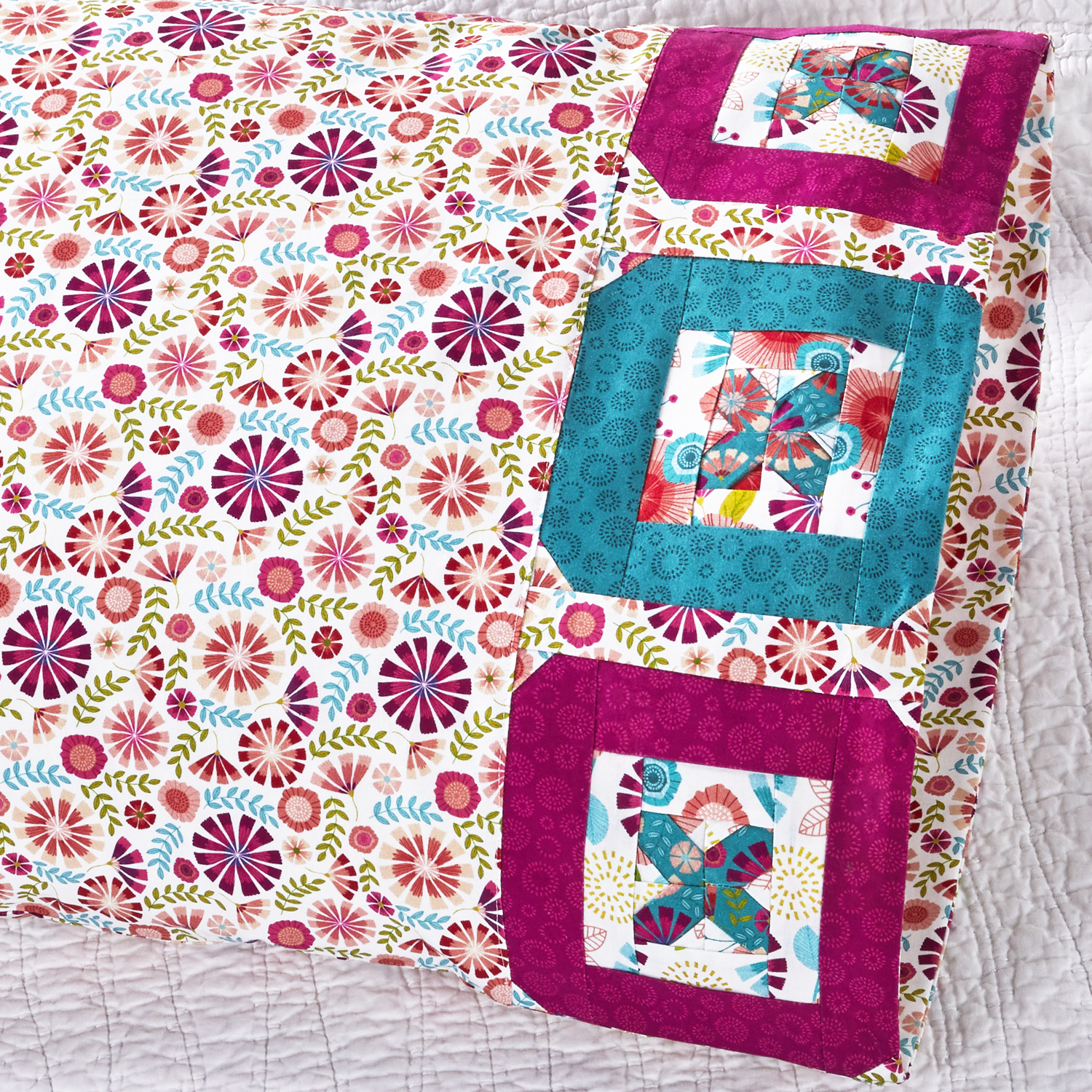 Northcott Button Pillowcase