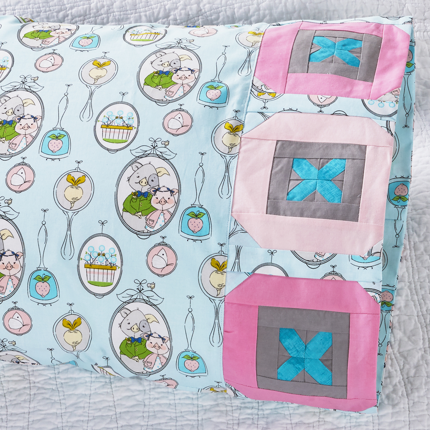 Riley Blake Button Pillowcase