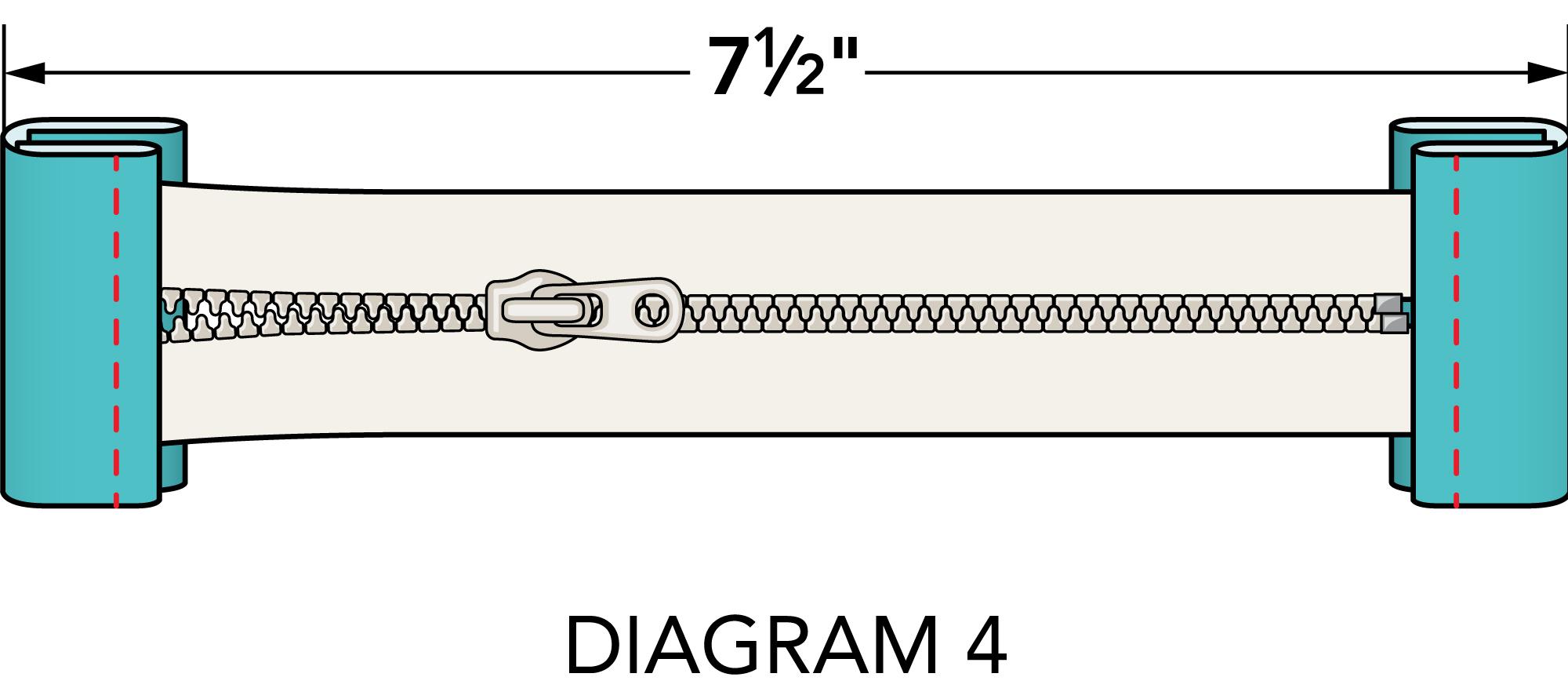 Sew Write pouch diagonal 4
