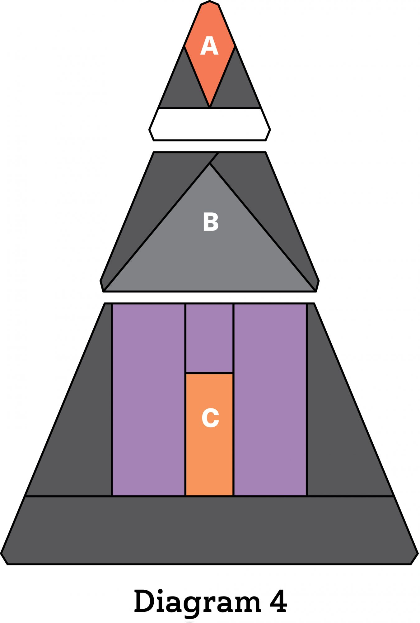Haunted House Table Topper diagram 4
