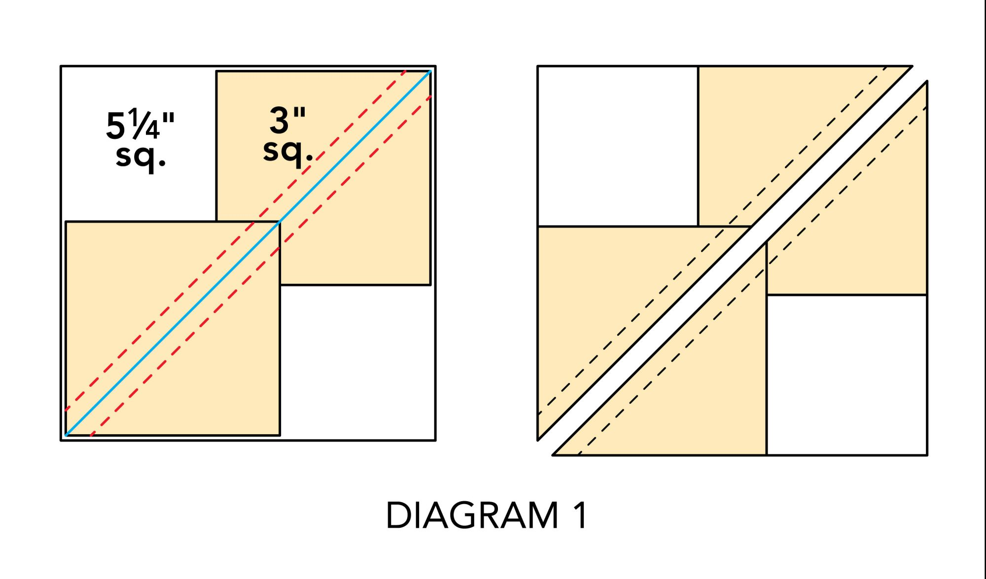 Mix-It-Up Table Runner diagram 1