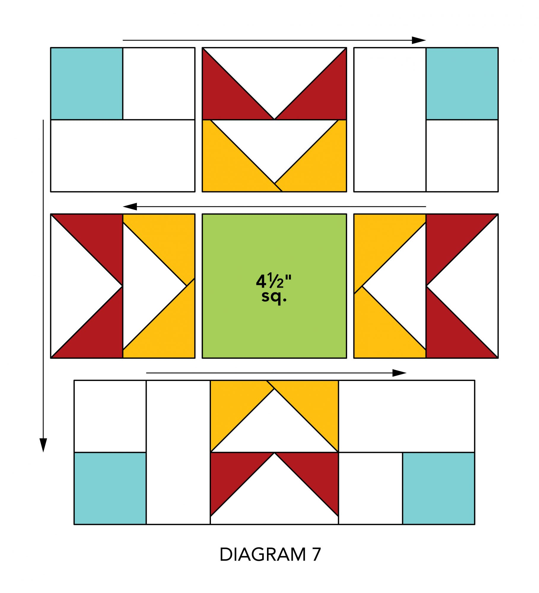 Mix-It-Up Table Runner diagram 7