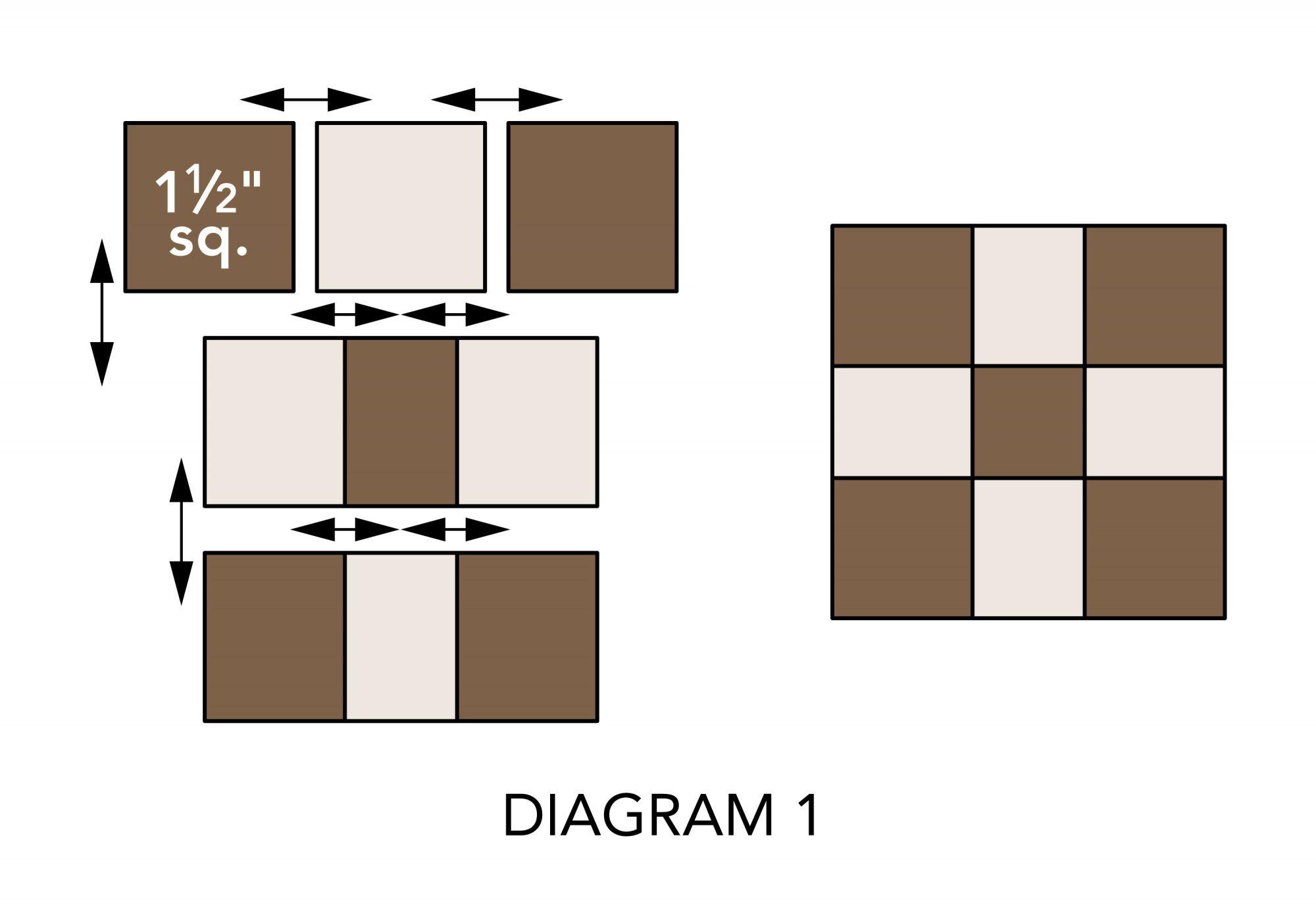 Fall Mug Rugs diagram 1