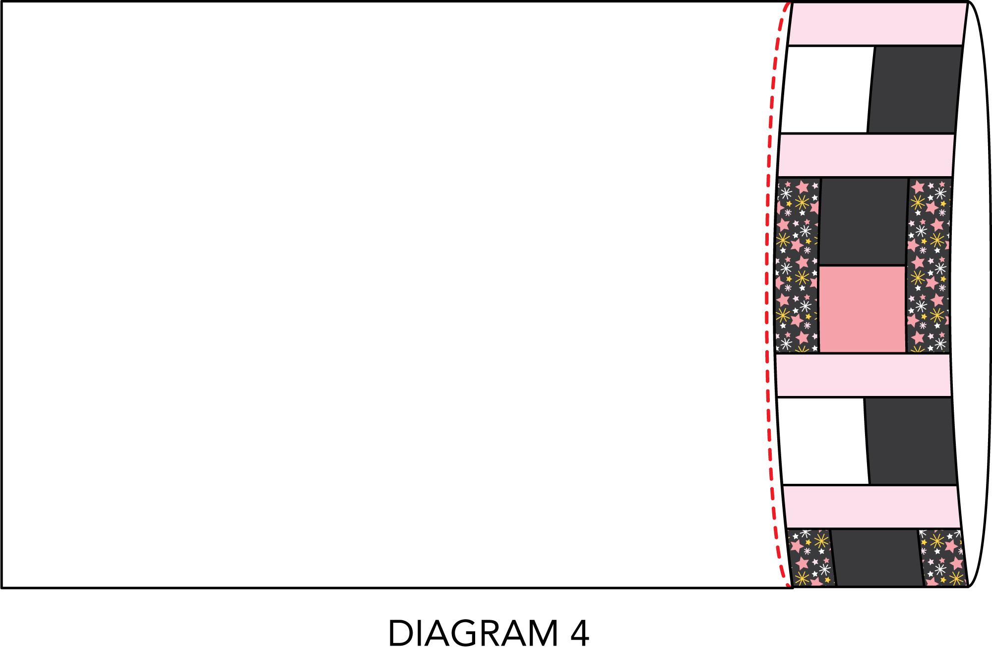 Dreamland pillowcase diagram 4