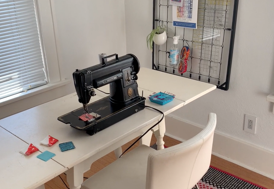 create a clutter-free sewing space