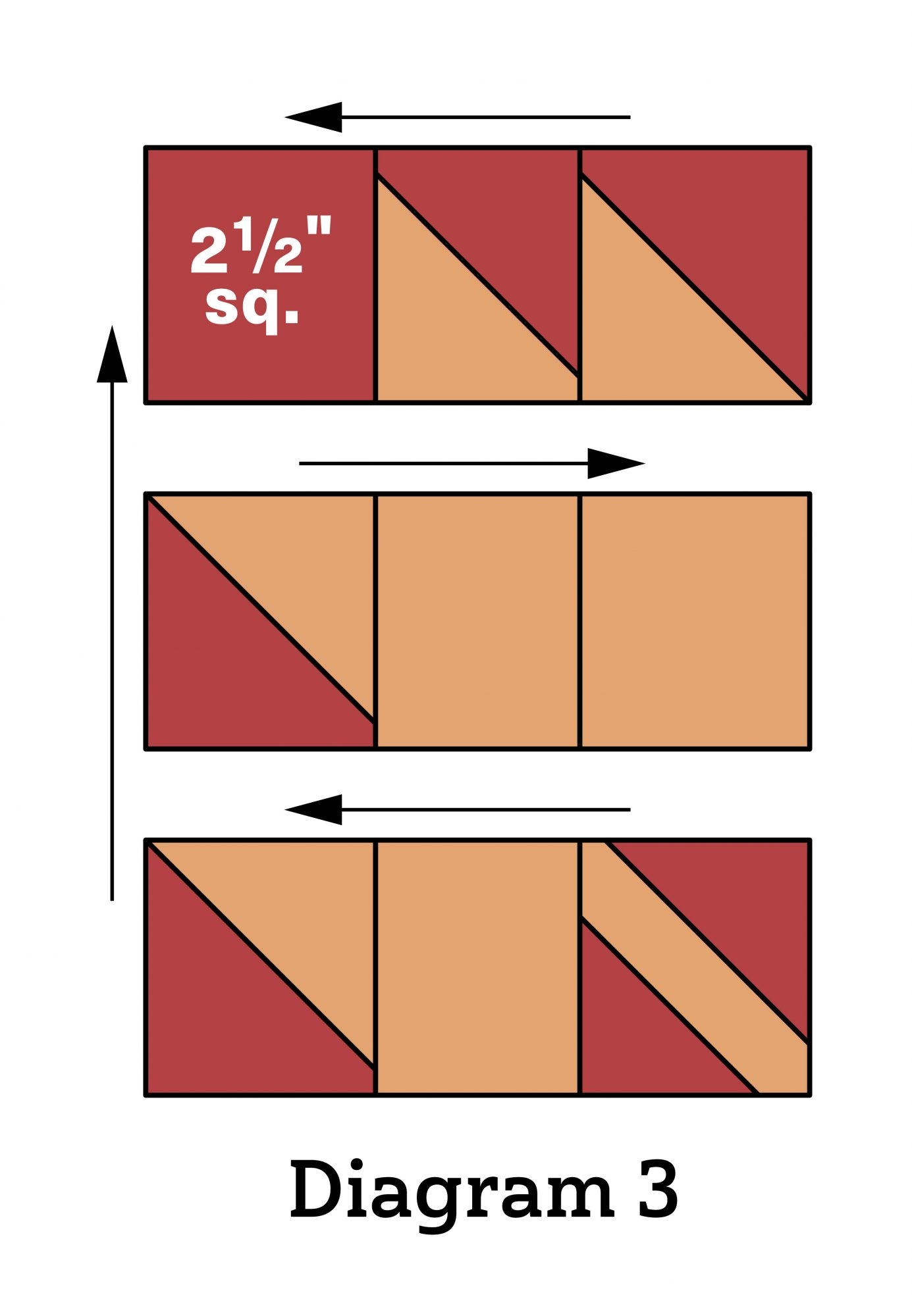 Pumpkin Patch Wall Quilt diagram 3
