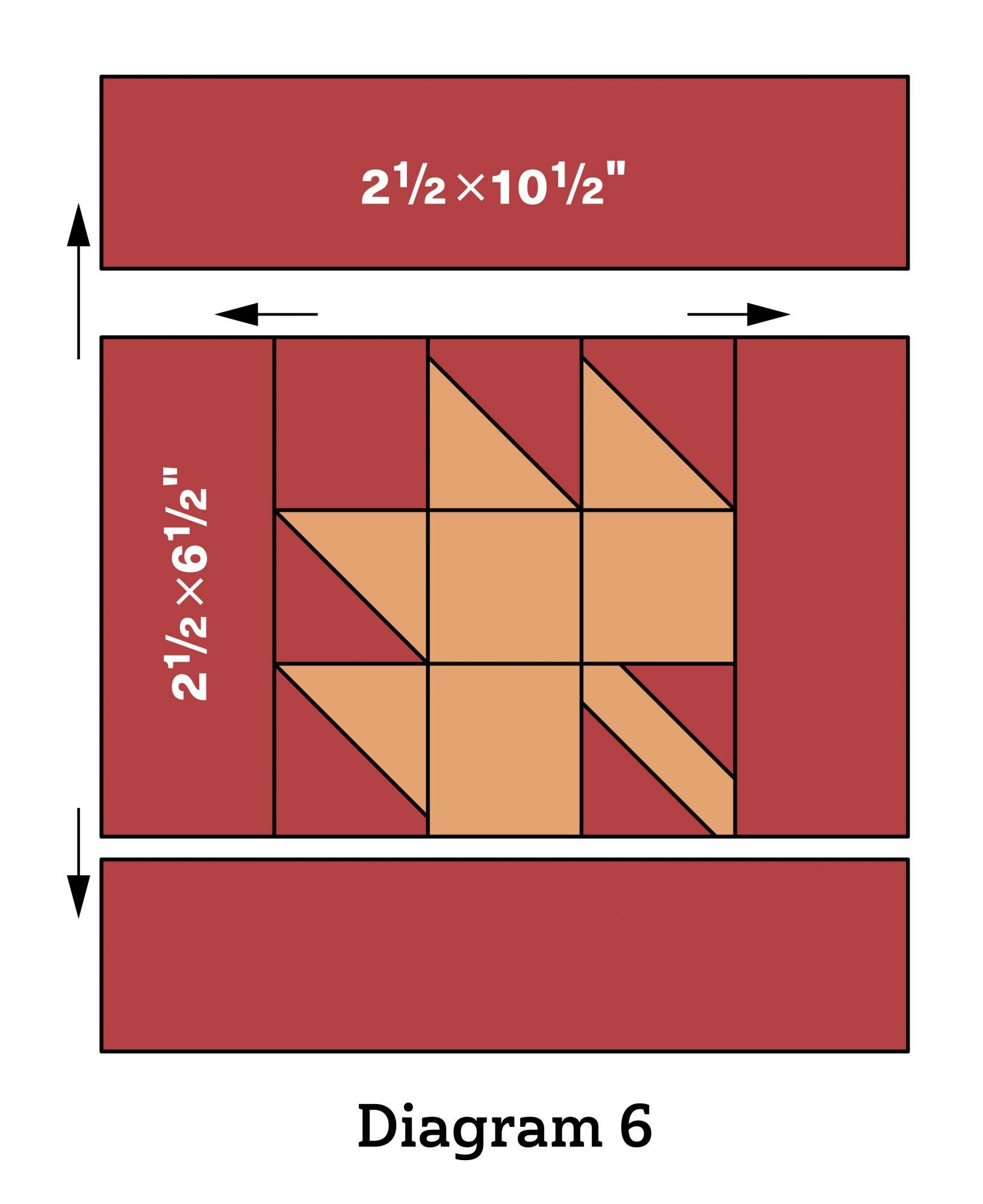 Pumpkin Patch Wall Quilt diagram 6