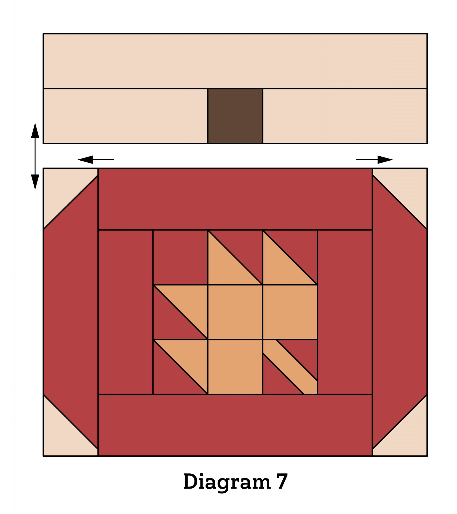 Pumpkin Patch Wall Quilt diagram 7