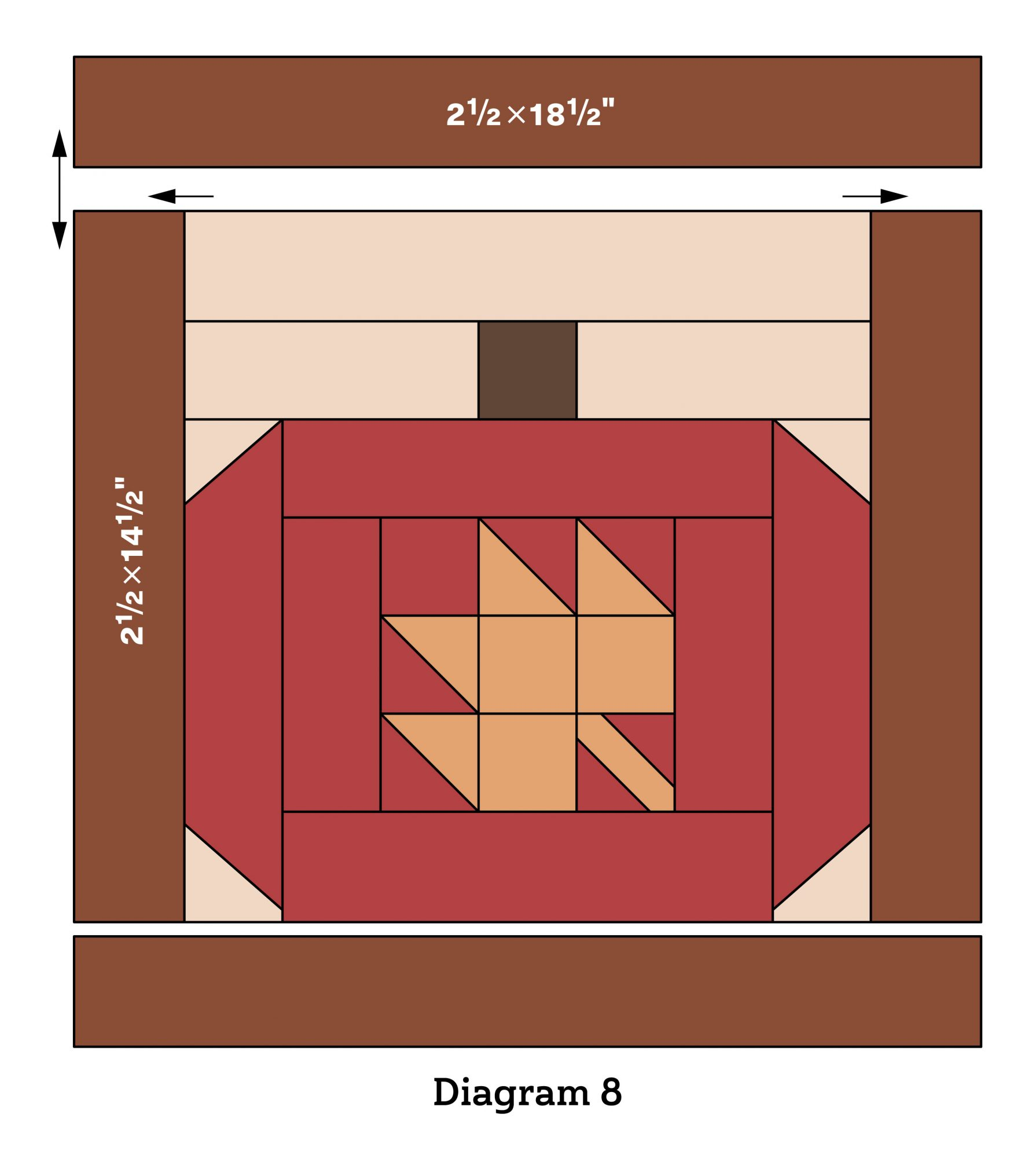 Pumpkin Patch Wall Quilt diagram 8