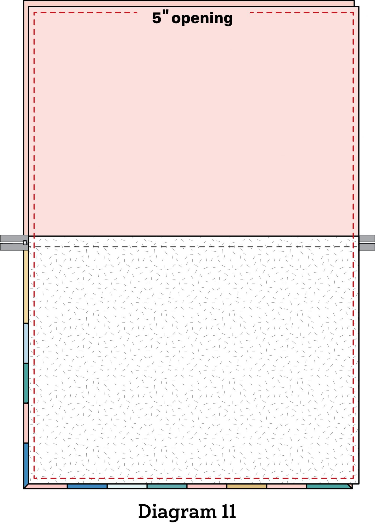 Pinwheel Zipper Pouch diagram 11