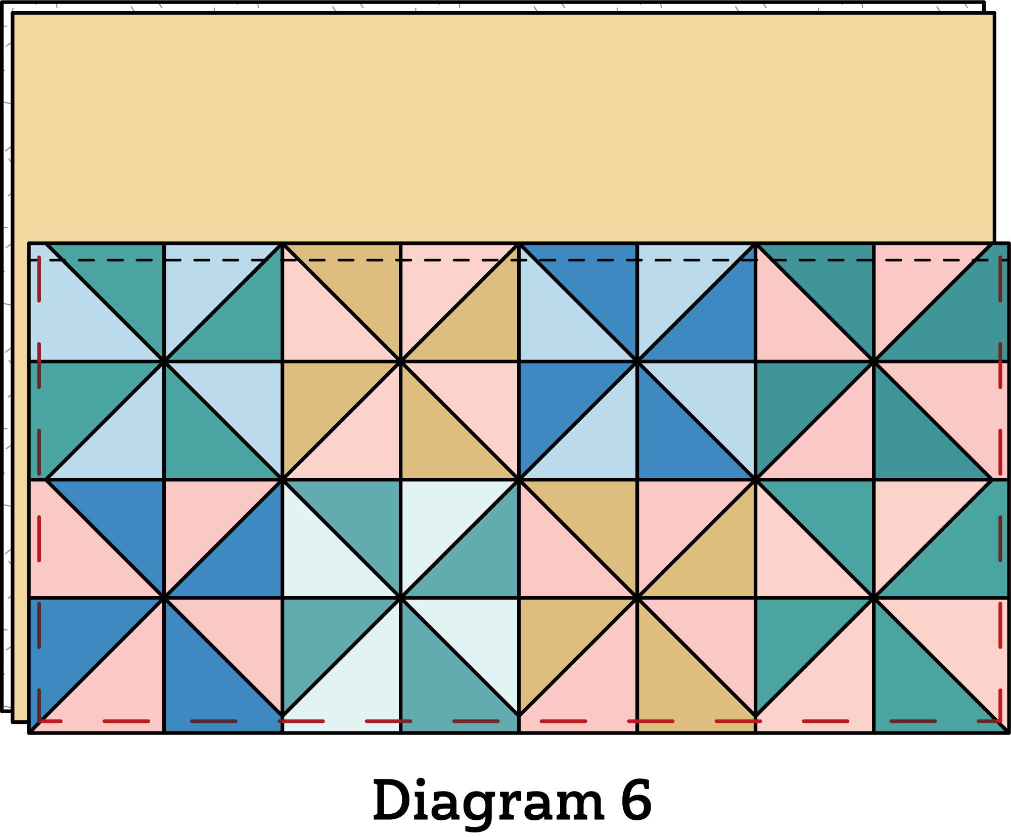Pinwheel Zipper Pouch diagram 6