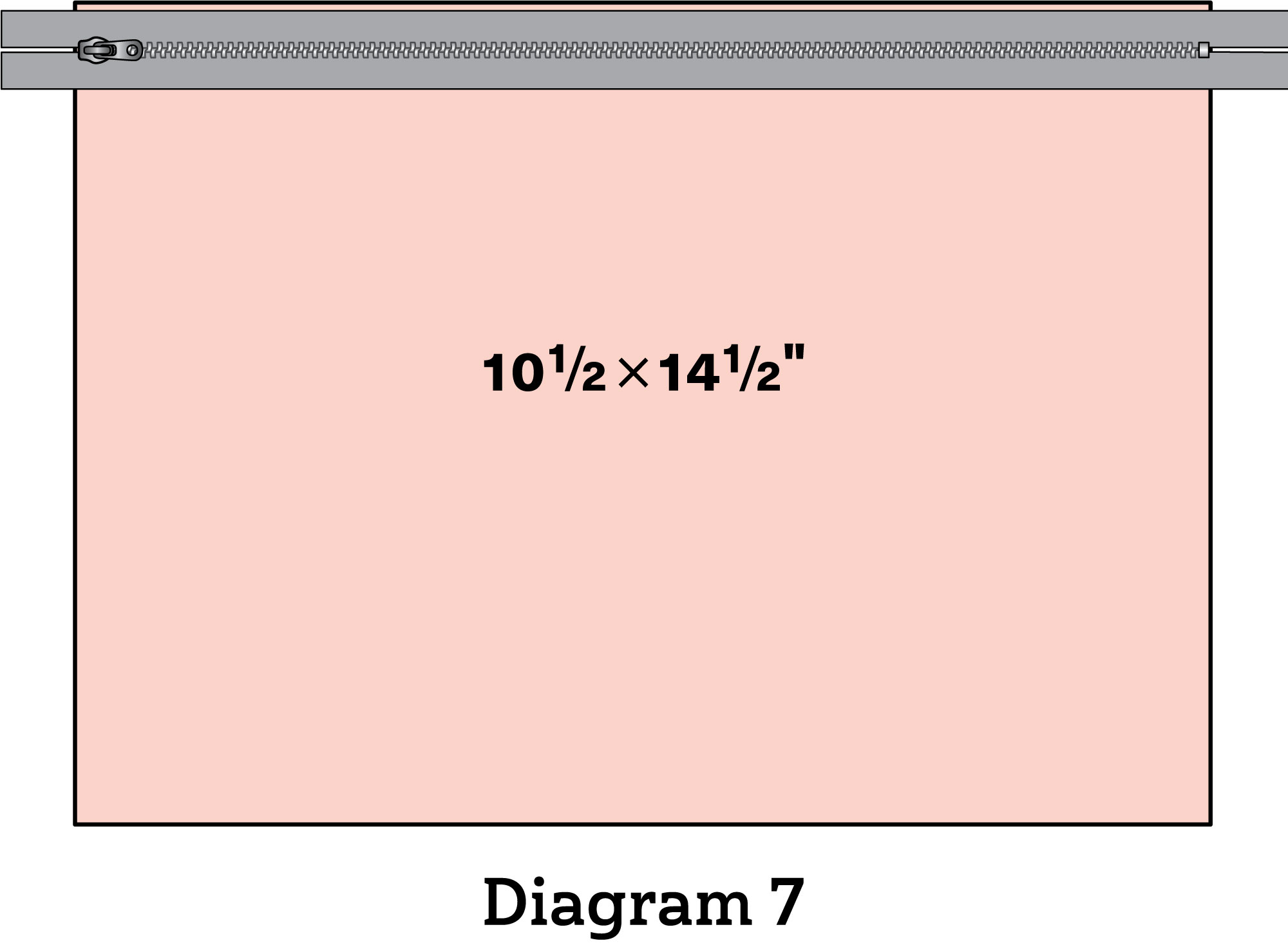 Pinwheel Zipper Pouch diagram 7