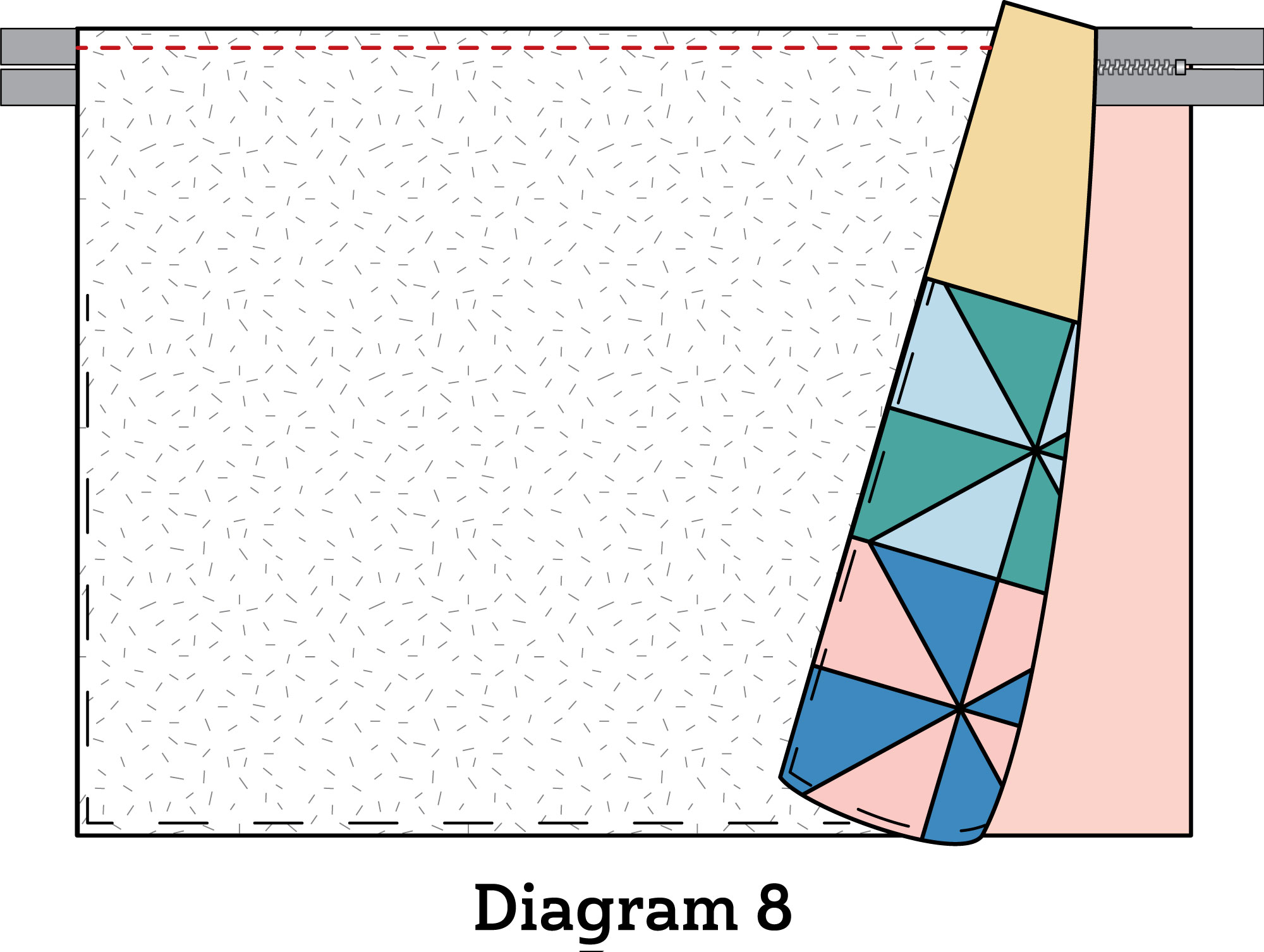 Pinwheel Zipper Pouch diagram 8