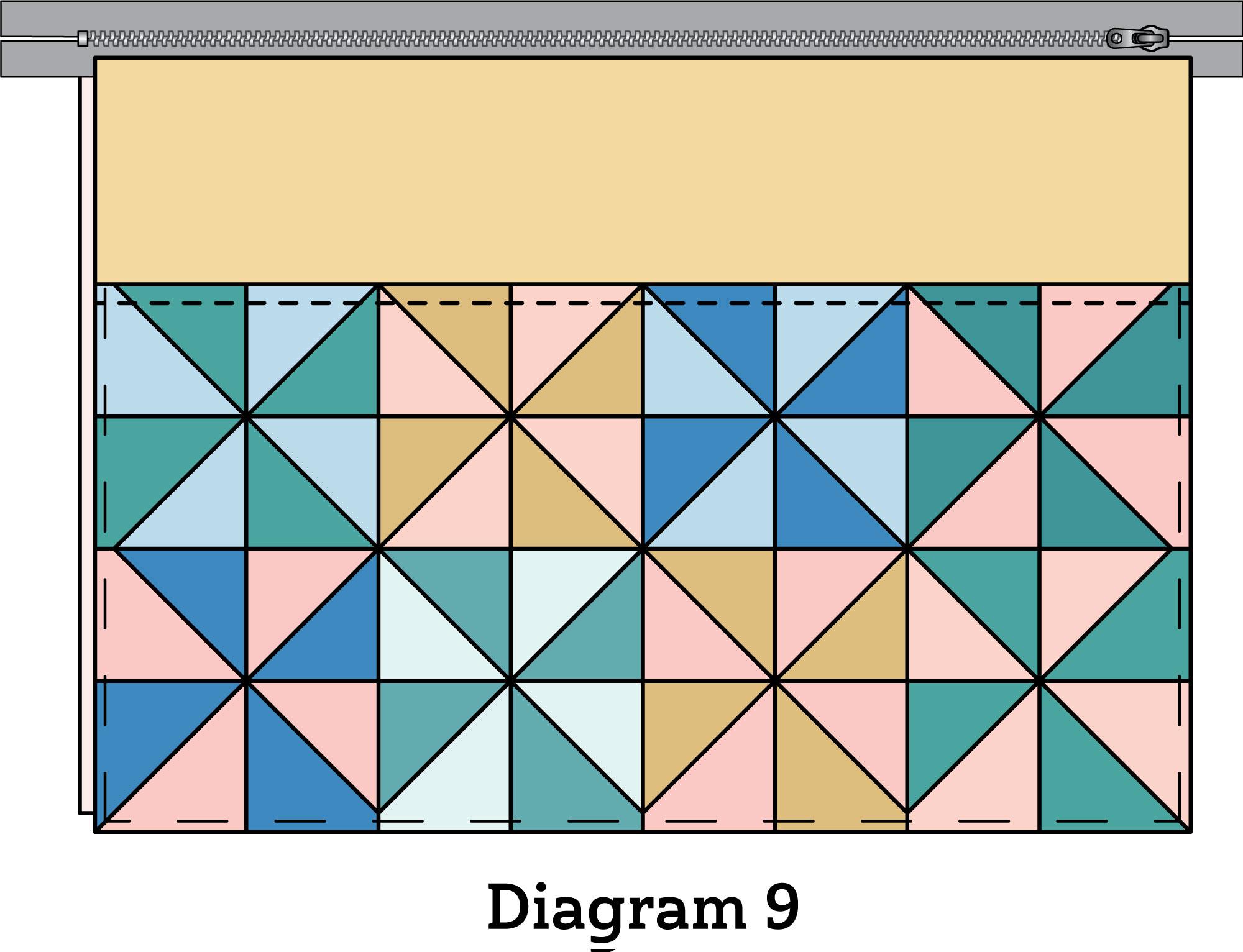 Pinwheel Zipper Pouch diagram 9