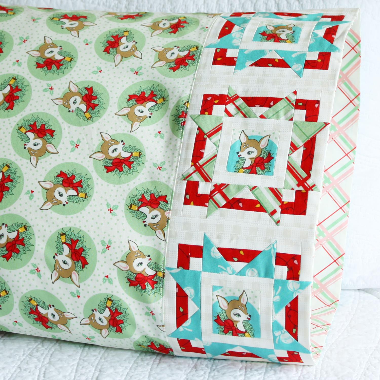 Bursting Star Pillowcase in Moda Fabrics