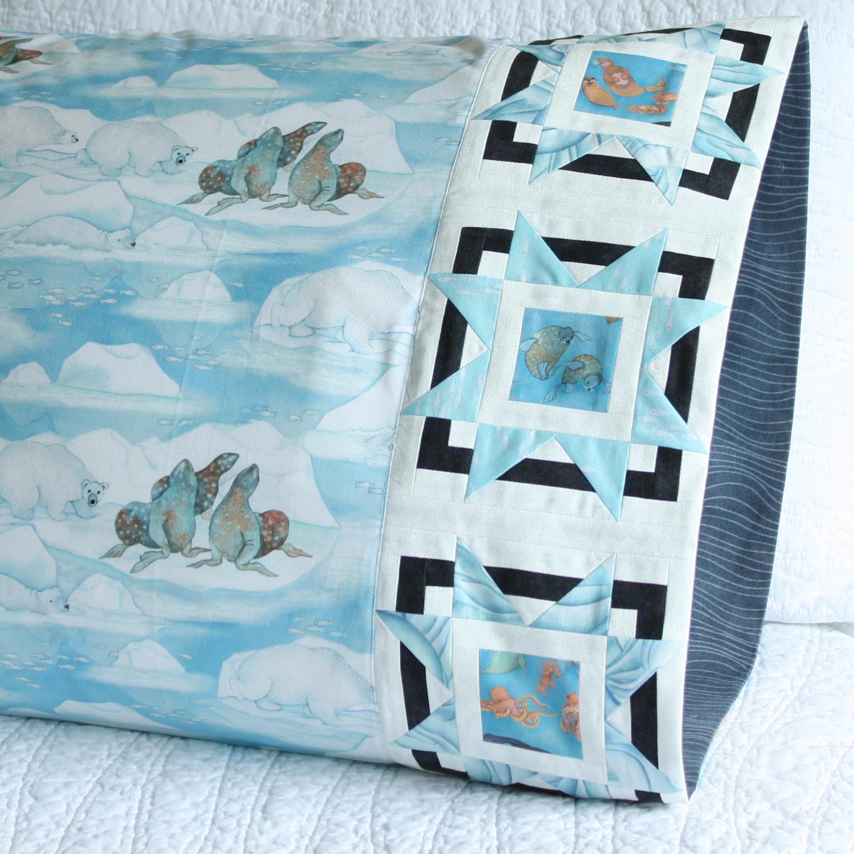 Bursting Star Pillowcase in Northcott