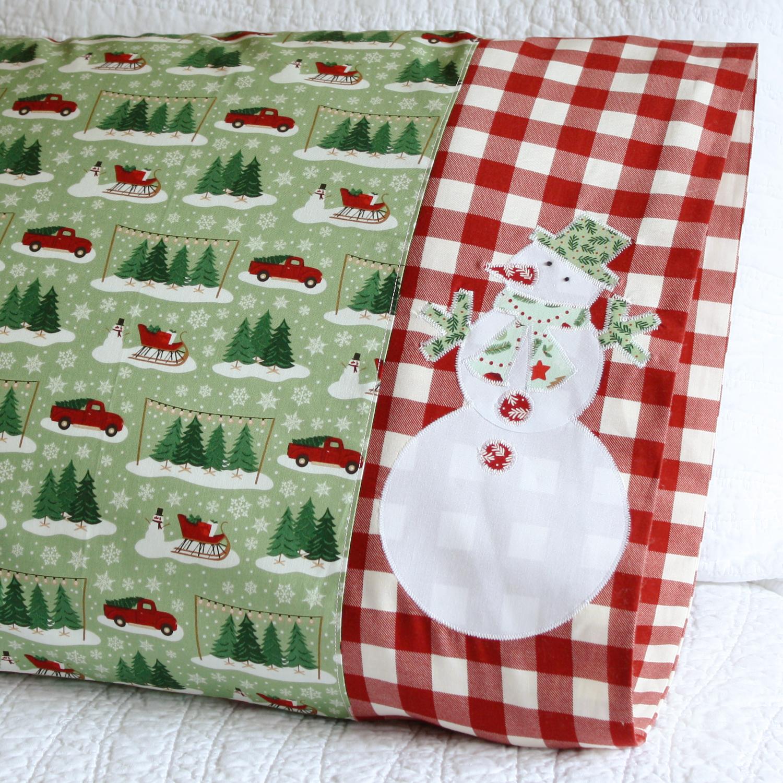 Snowman Applique in Riley Blake Designs fabric
