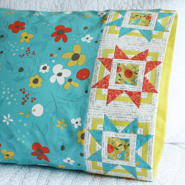Bursting Star Pillowcase in Riley Blake Designs