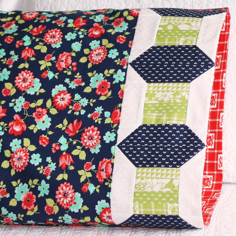 Thread spool pillowcase in Moda Fabric