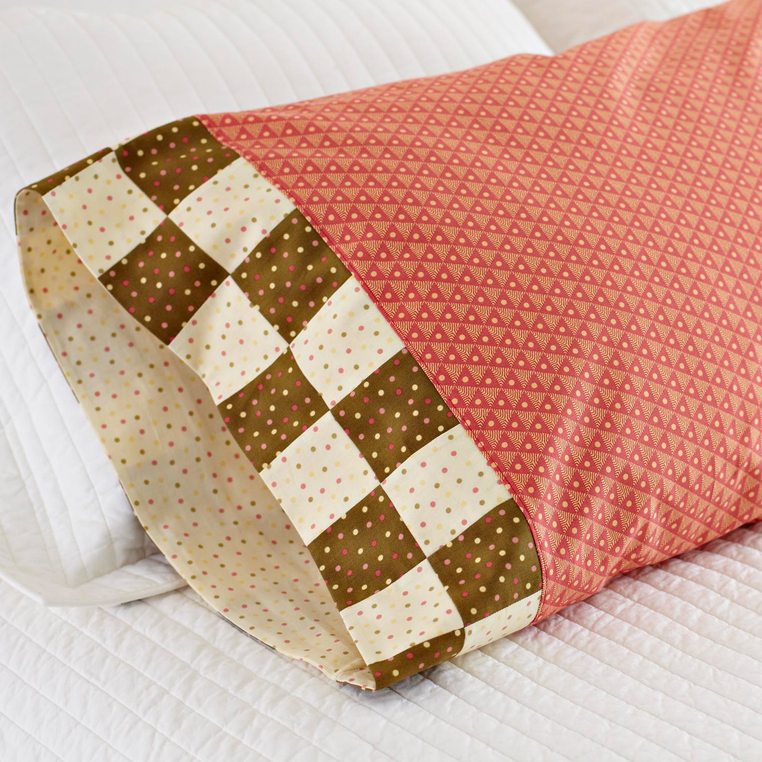 Checkerboard Band Pillowcase