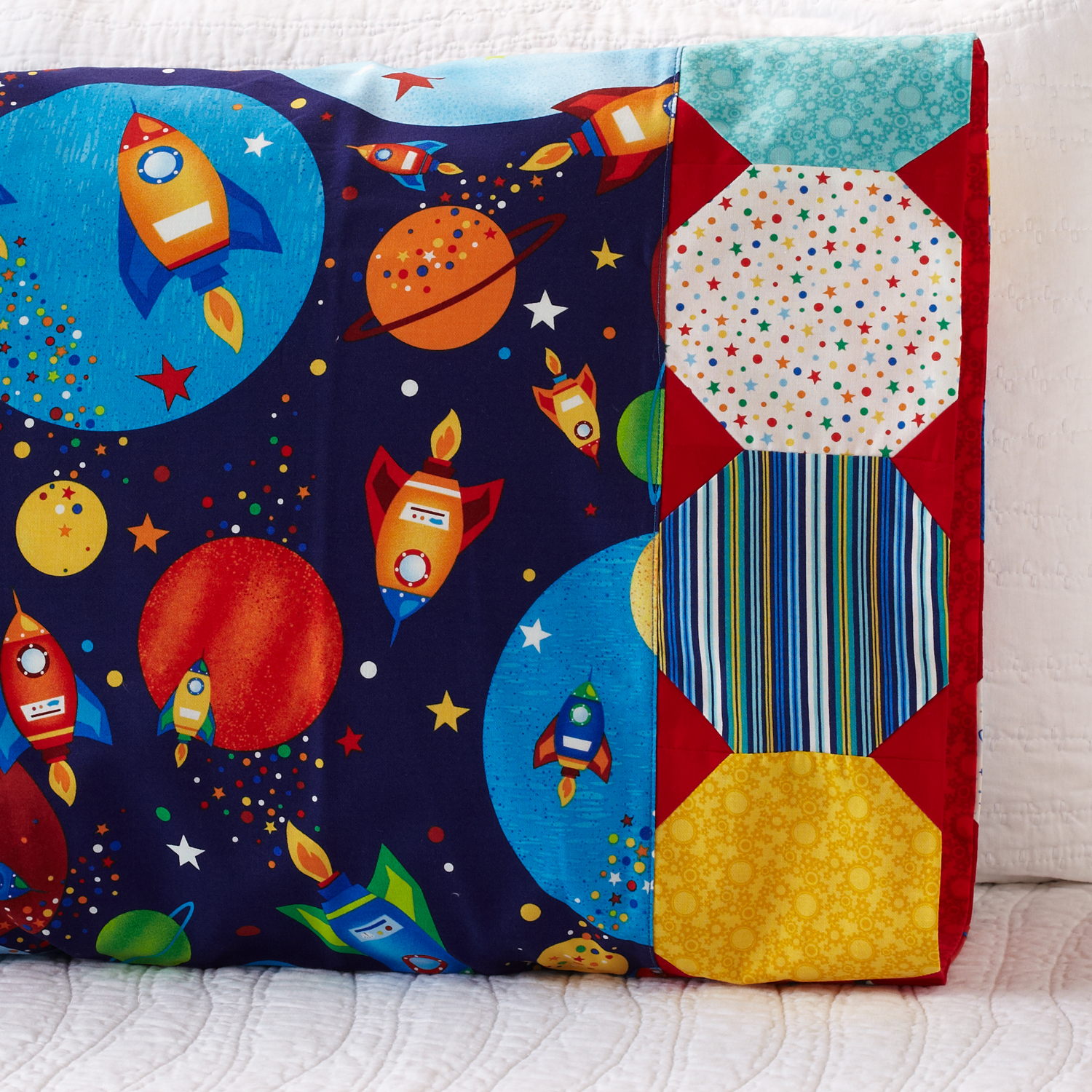 planet pillowcase with snowball band