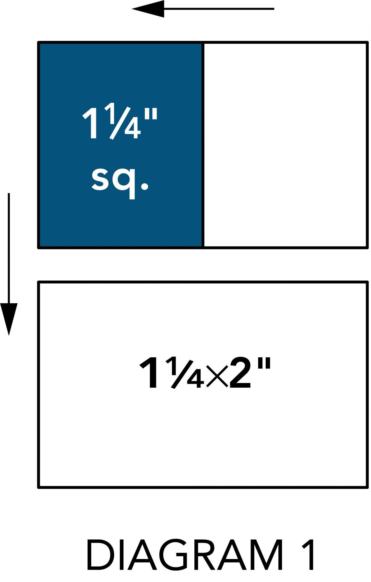 Winter Mini Quilt diagram 1