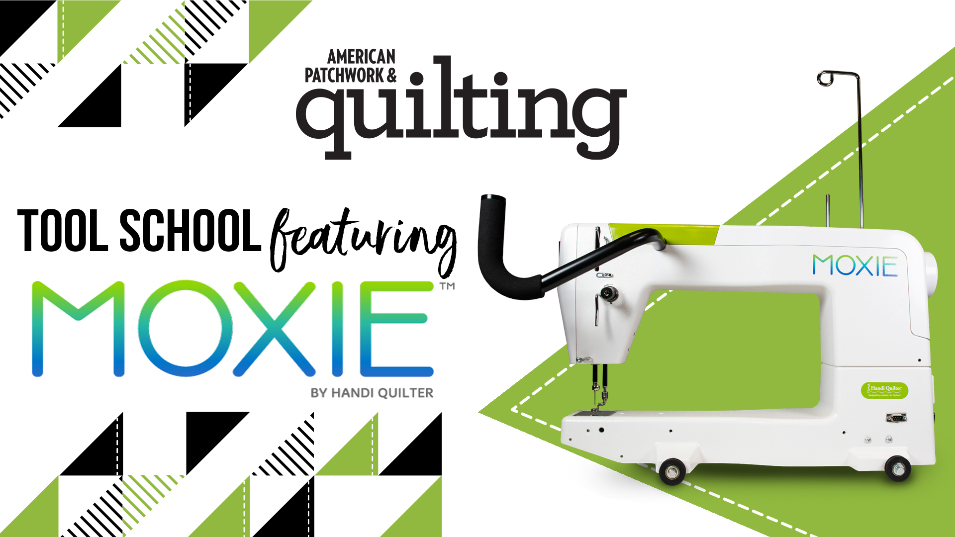 Tool School: NEW Handi Quilter Moxie Longarm Quilting Machine