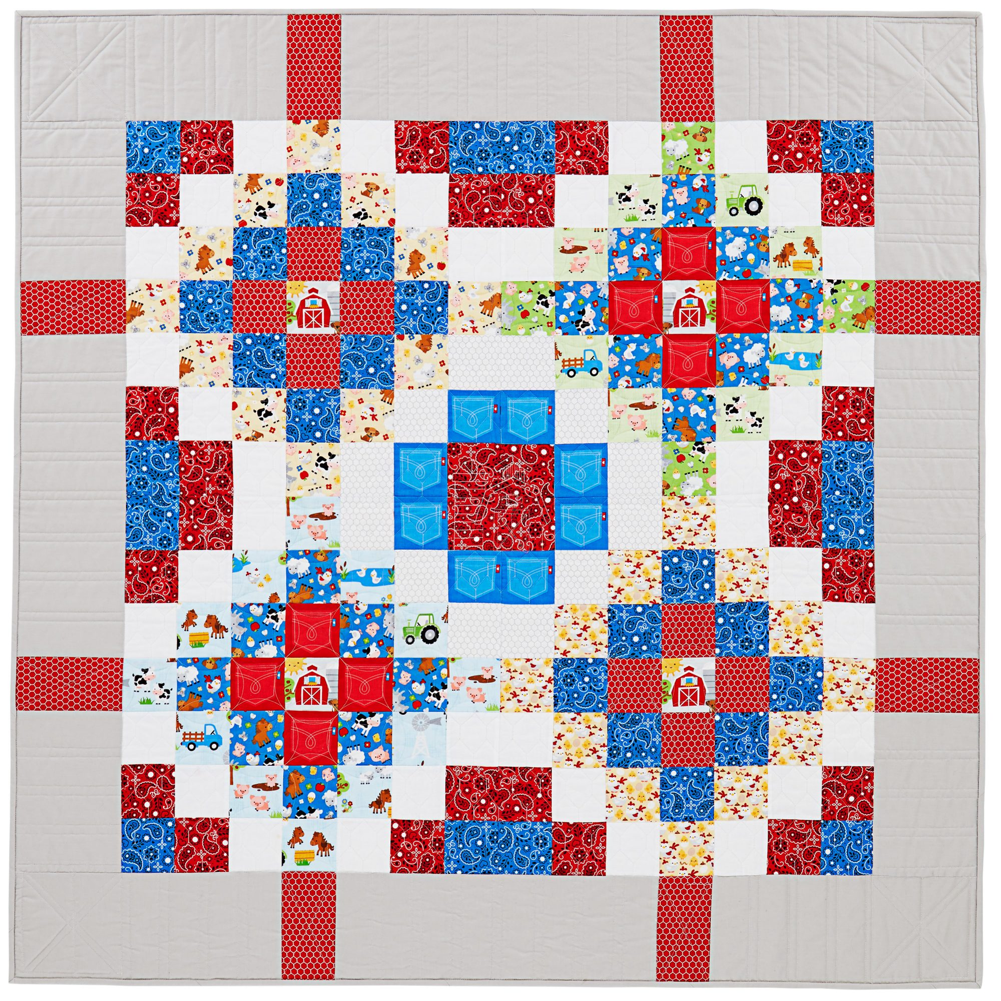 Simple Squares Baby Quilt